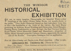 Advert for the Windsor Historical Exhibition